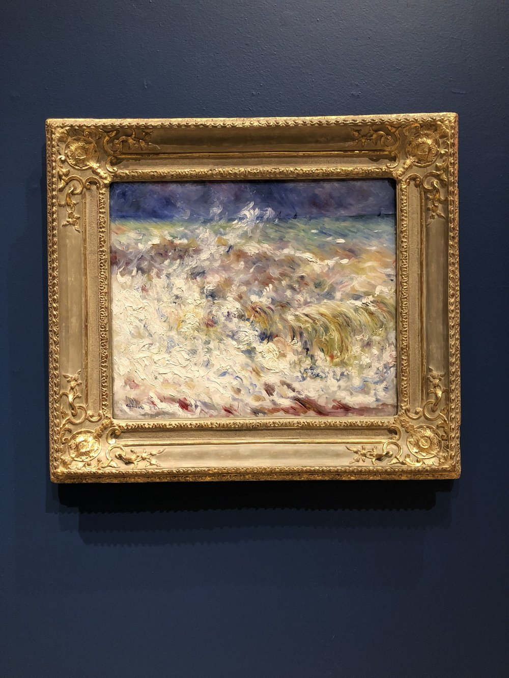 Pierre-Auguste Renoir.  The Wave . 1882.