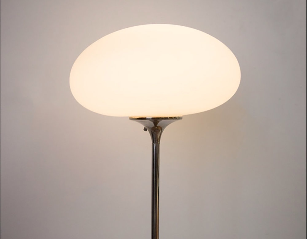 Superb Mid Century Laurel Lamp Co. Chrome Mushroom Floor Lamp