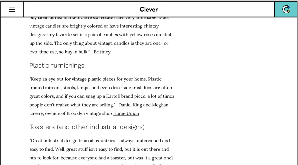 Architectural Digest / Clever -