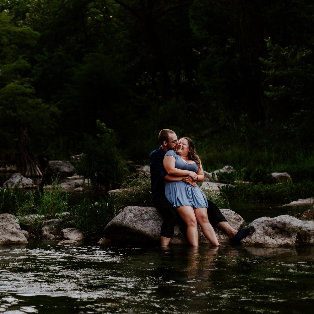 aDAM & nATALIE's adventure river couple session - Riverside Adventure Couples Session