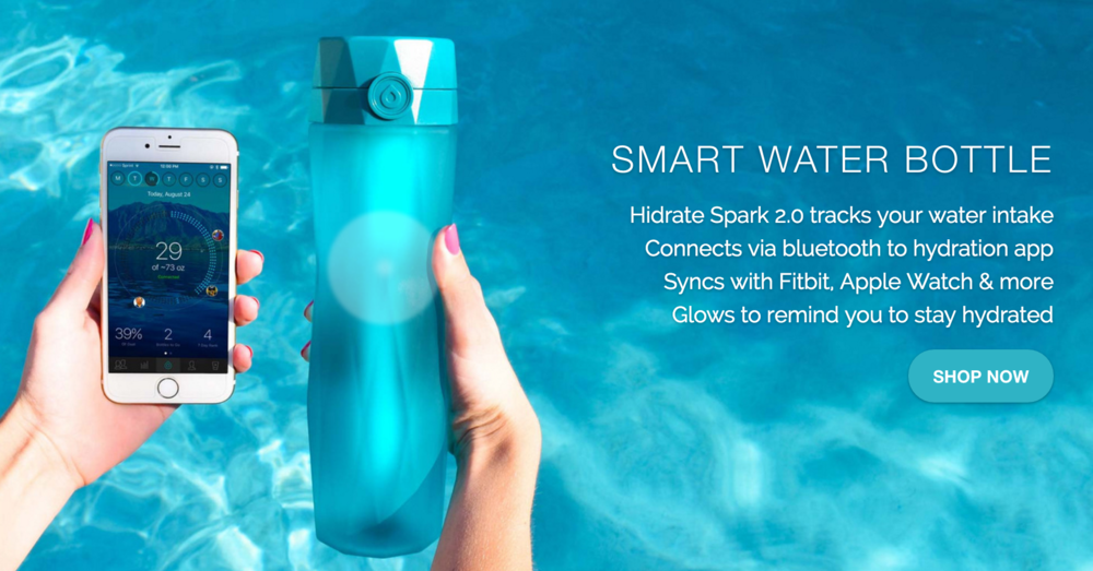 Hidrate Spark is a company producing a smart water bottle which tracks your hydration status over the day.