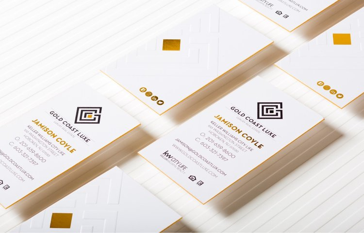 1000 Uber Thick Foil Stamped Business Cards Distige Radical Marketing