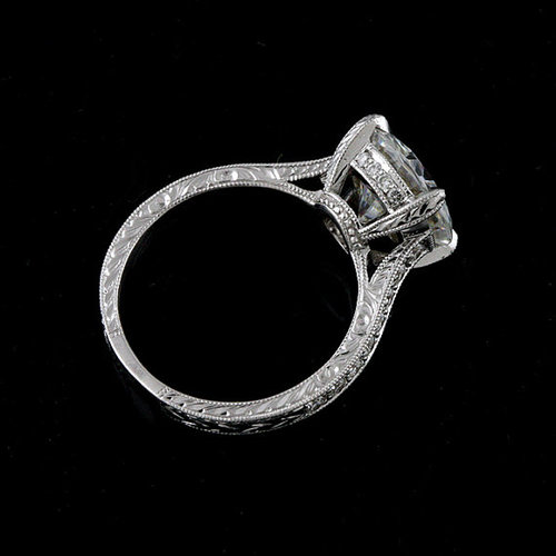 FINAL+SALE++Cubic+Zirconia+Platinum+Art+Deco+Replica+Hand+Engraved+Engagement+Ring4.jpg
