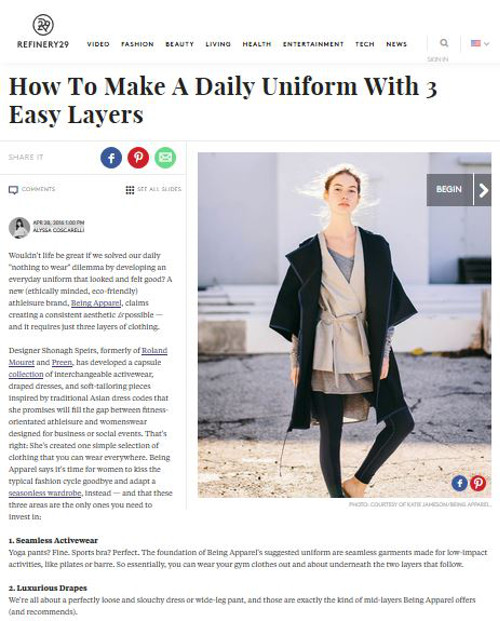 """an everyday uniform that looks and feels great"""