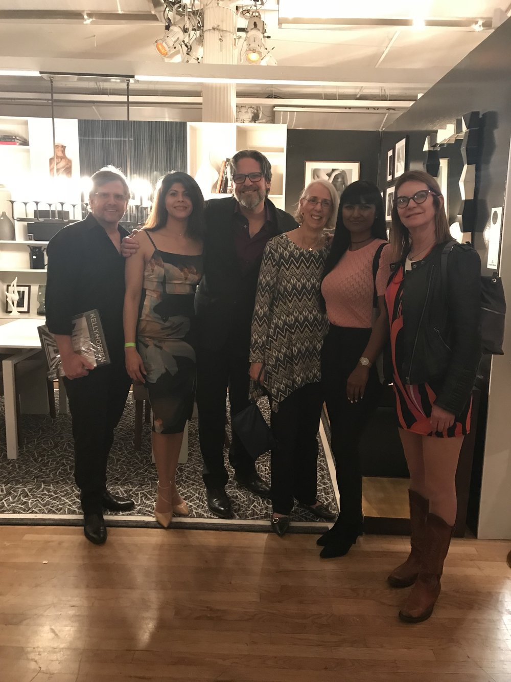 Some IFDA NY Chapter members stopped by and it was wonderful to see them! (From Left to Right: Darrin Varden, Claudia Giselle Tejeda, Richard Segal, Su Hilty, Vanessa Despot, Andrea Warriner)