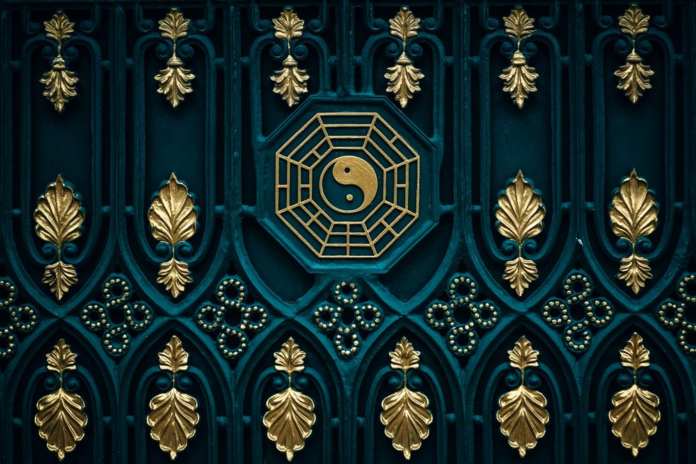 """A modern version of the """"Earlier Heaven"""" or """"Fu Xi"""" bagua (伏羲八卦) that is used to determine auspicious spatial relationships."""
