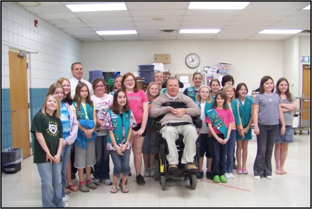 President Brown with Girl Scout Troop.jpg