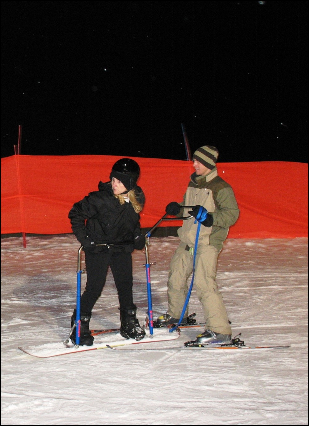 Ruth masters the snow board.jpg