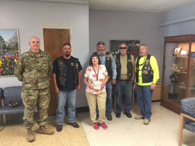 A big thank you to Combat Veterans Motorcycle Association Missouri Chapter 4-4 for their generous annual donation to the Gateway Chapter.   http://mo4.combatvet.org/