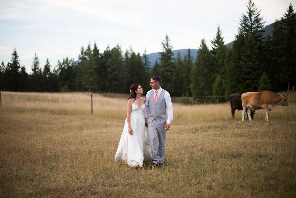 Seth & Jessica wedding at   Shylynn Ranch  at Falkland British Columbia Canada.