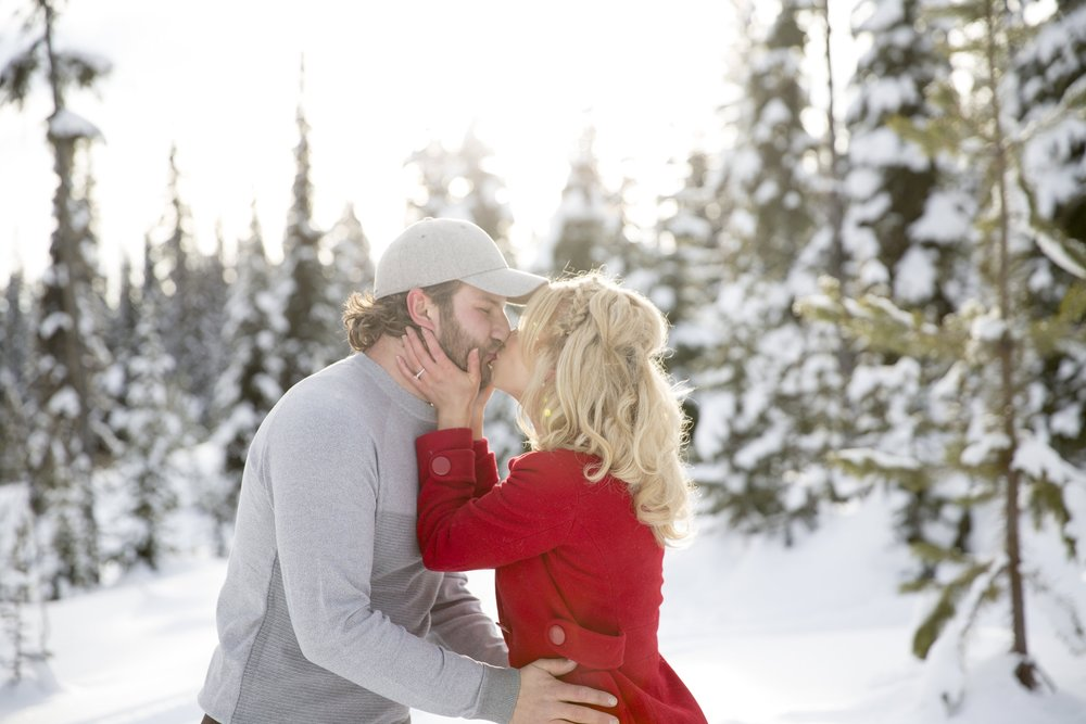 Kissing at Big White Ski Resort