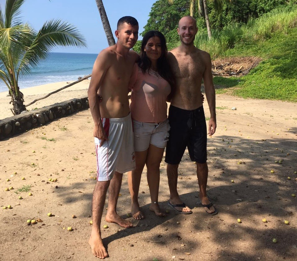 Ramon, Marychuy, and me at the beach!  I tutored both of them in English, and they helped me with my Spanish.  Great, lifelong friends.