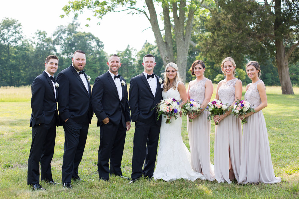 Clapypit Creek NJ Wedding Photography Bridal Party Beige Bridesmaids Dresses