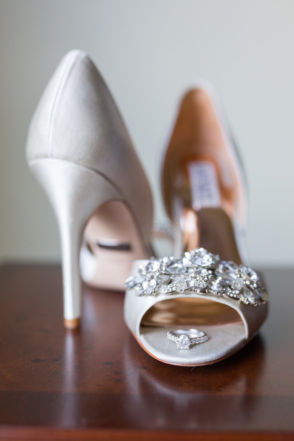 Wedding Shoes Wedding Ring Engagement Ring NJ Wedding Photography