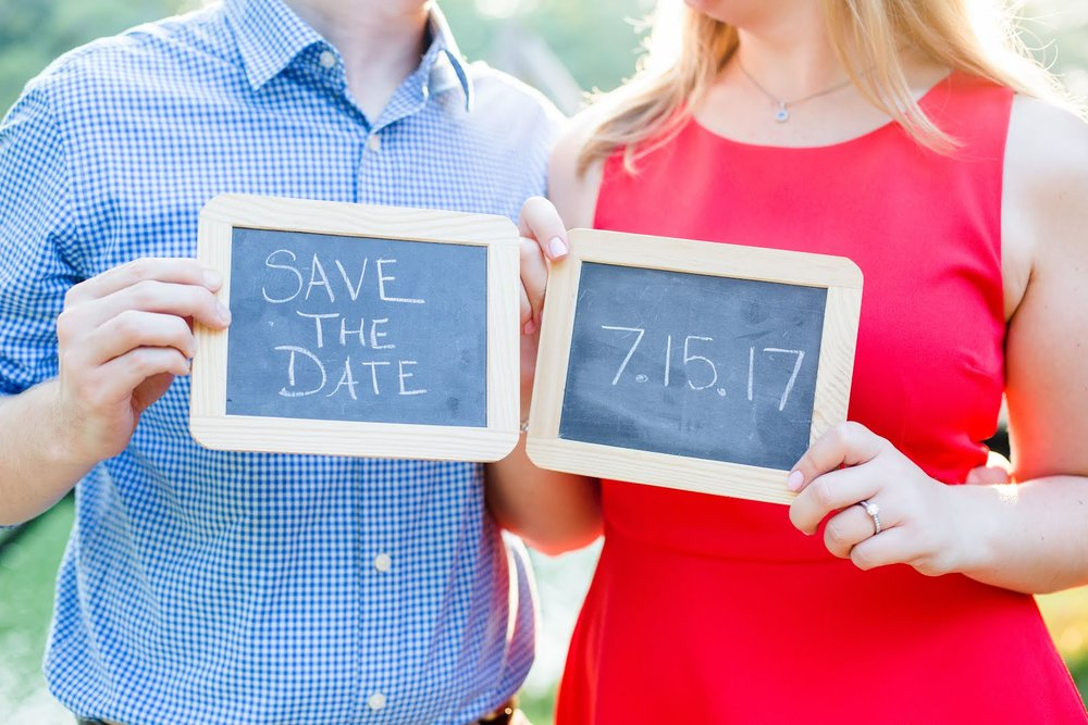 Bride and Groom to be Save The Date Sign