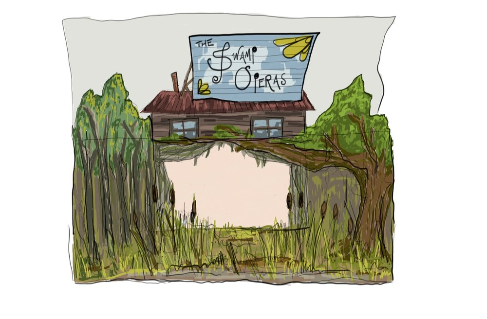 Swamp Cabin, open, curtains out.jpg