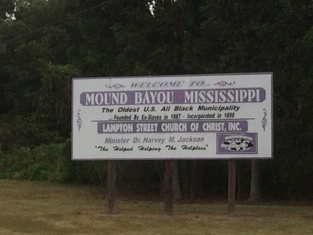 Mound Bayou, Mississippi - A utopia, a town, established by Ex Slaves. Photo by M.A. Caudel