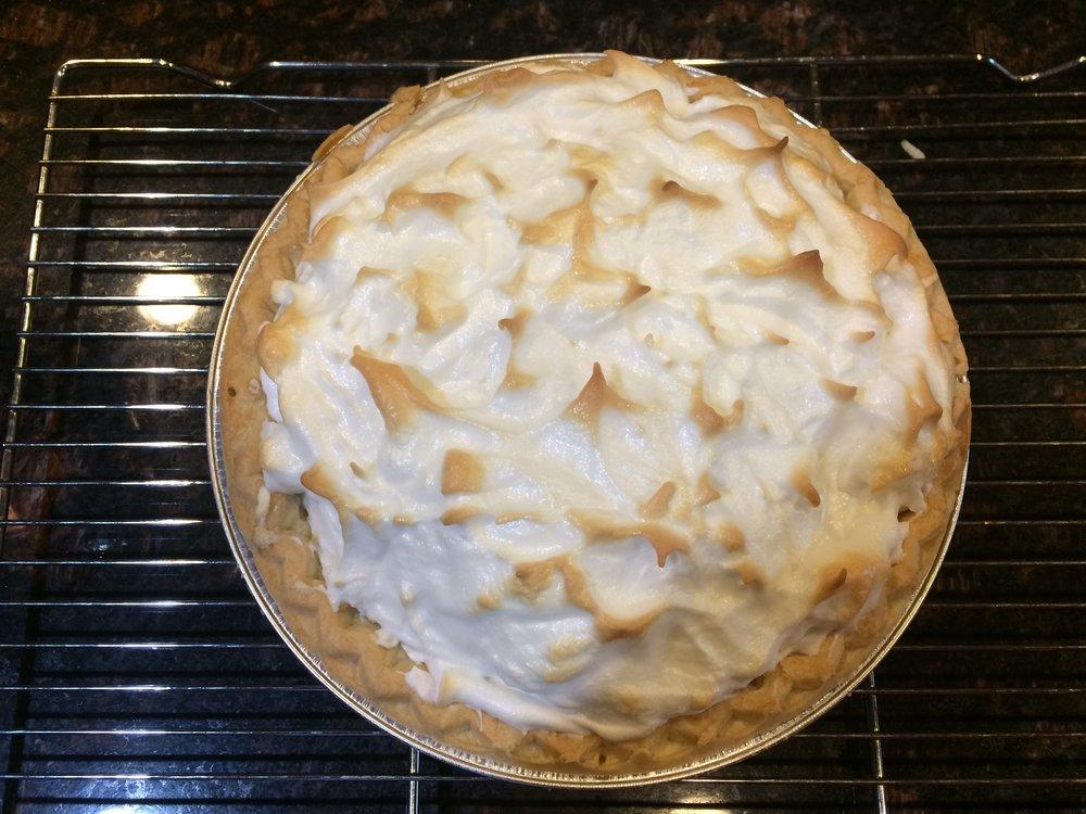 The final product: Lemon Meringue Pie