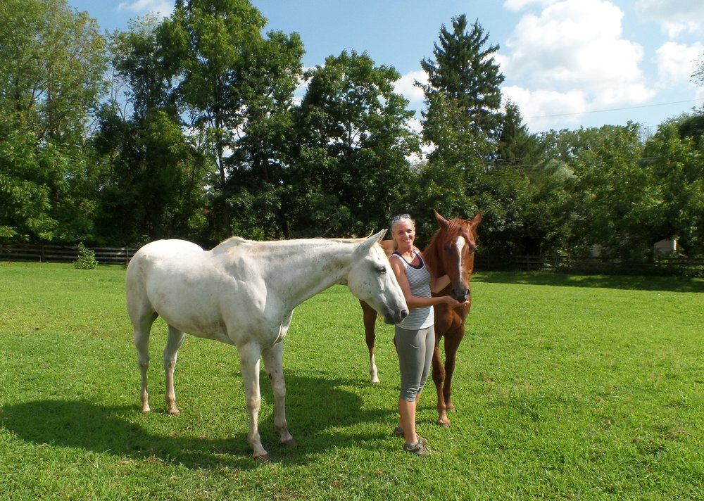 B and B me with horses.JPG