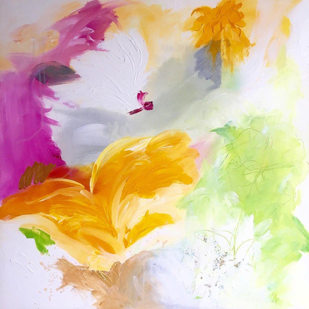 """Flora"" 2017 Acrylic Painting"