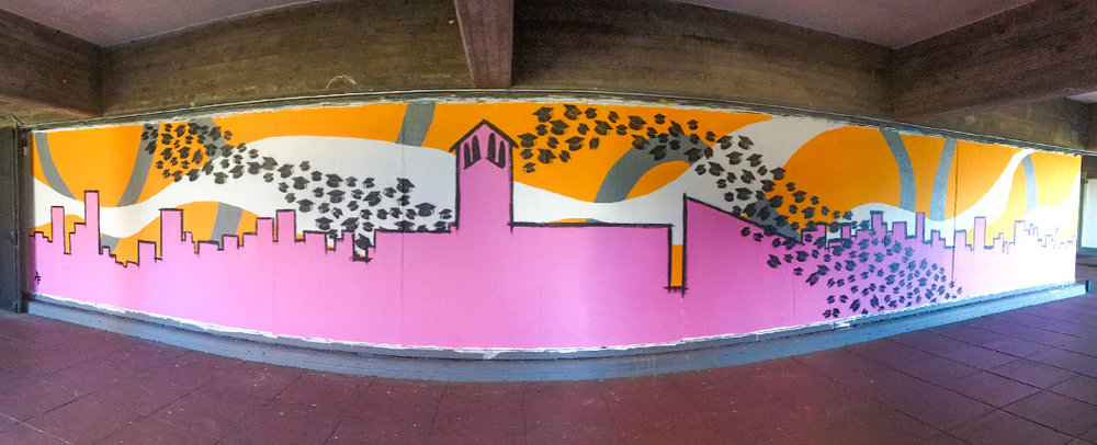 SFAI Grad Mural, San Francisco, 2017