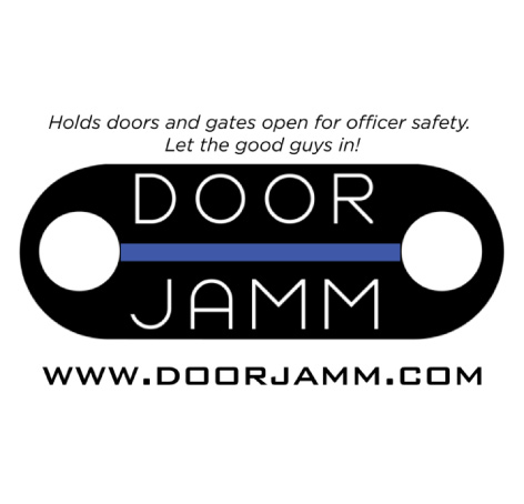 DoorJamm   DoorJamm is a convenient tool for first responders to prevent doors and gates from closing behind them. This valuable tool is light, flexible, fits in almost any pocket, and deploys in seconds. It is inexpensive and stretches to fit most types of doors and gates. DoorJamm is partnering with E614 to provide DoorJamms to recipients of E614 armor and is helping to spread the word about E614's mission!   Doorjamm.com