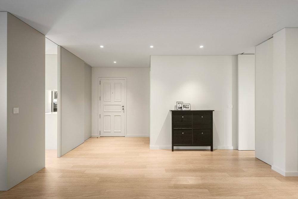 remodelação arquitectura sala cozinha ampla projecto obra reabilitação design interiores ania Gabriel Abrantes aga atelier costa nova