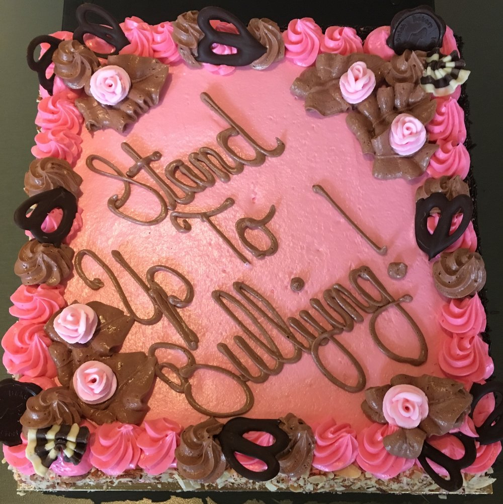 cake with pink icing