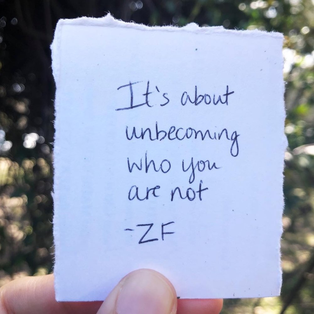 Unbecoming Who You Are Not | The Zen Femme