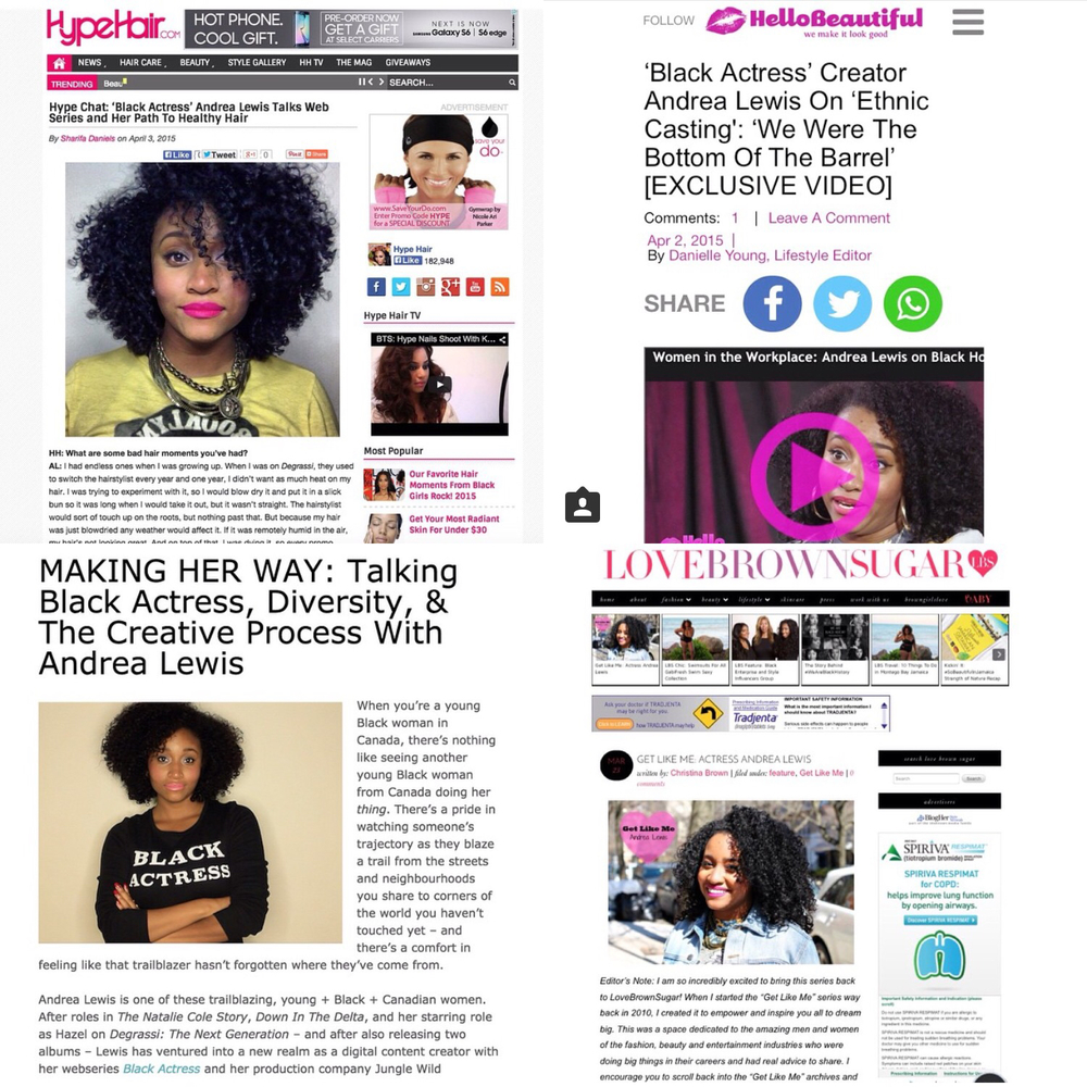 A collection of articles about Andrea Lewis' successes and advice --- photos by Andrea Lewis via Instagram