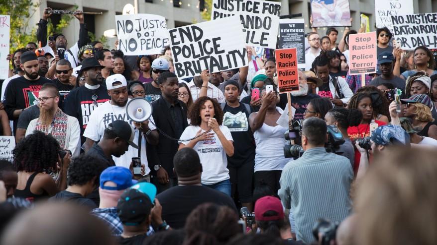photo 680news.com  July 7, 2016: Black Lives Matter protest in Dallas, TX.