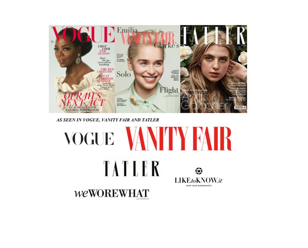 As Seen in Vogue, Vanity Fair and TATLER. - TAHbags.com
