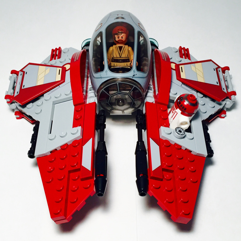 Review star wars obi wan kenobis jedi interceptor 75135 lego star wars heroes ultimate sticker