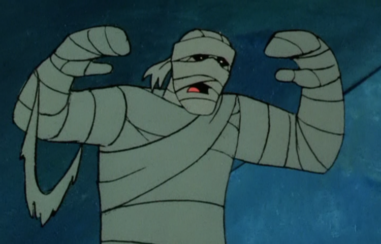"The Mummy as it's depicted in the episode ""Scooby Doo and a Mummy, Too"""