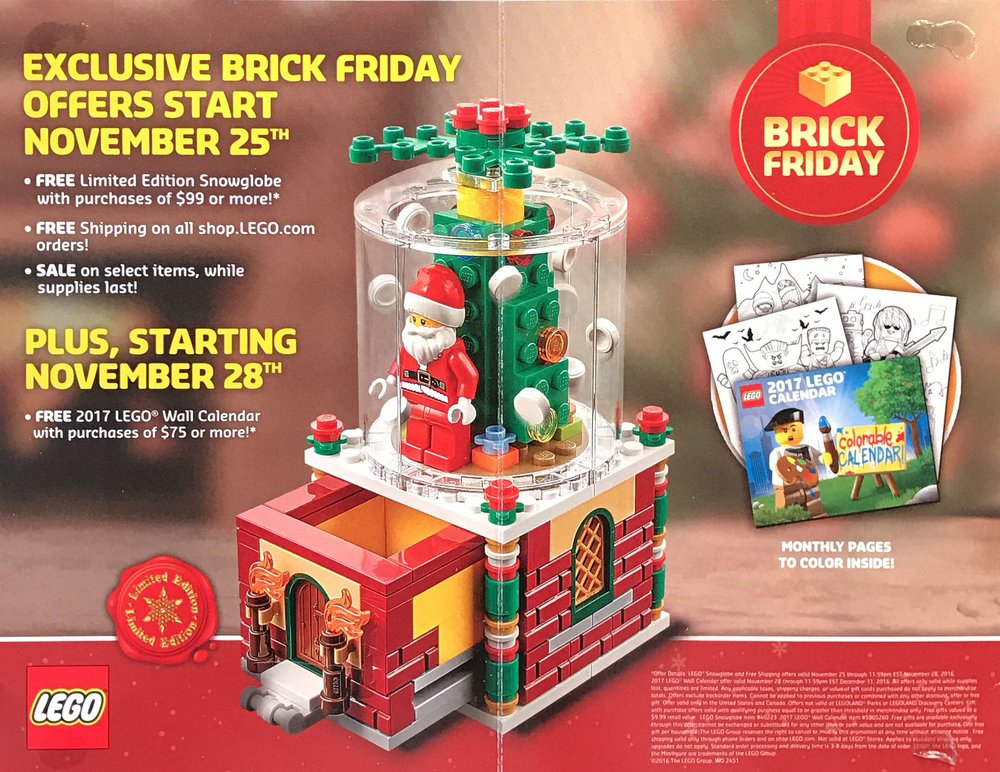 LEGO Brick Friday Deals and Promotions Announced for 2016 — The Lego ...