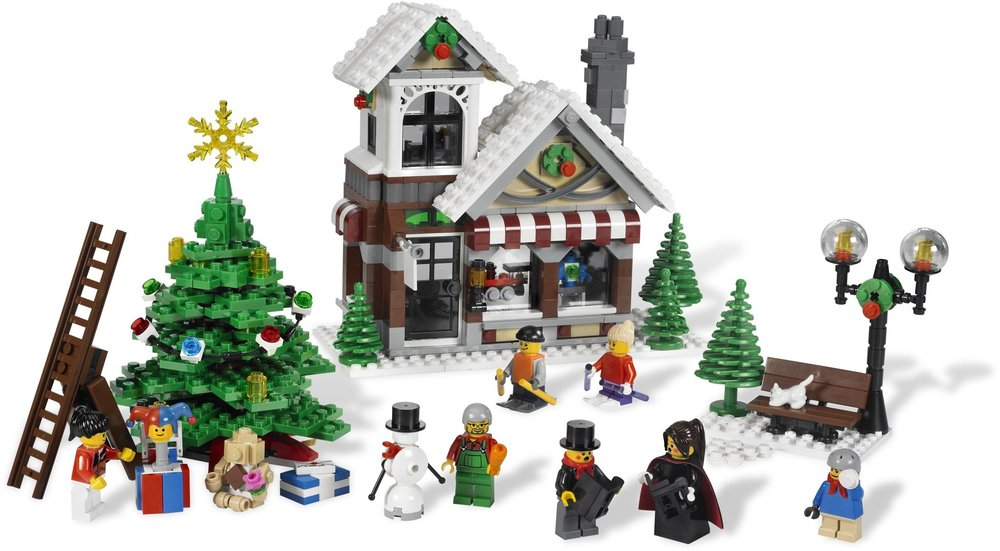 winter village toy shop 10199 released in 2009