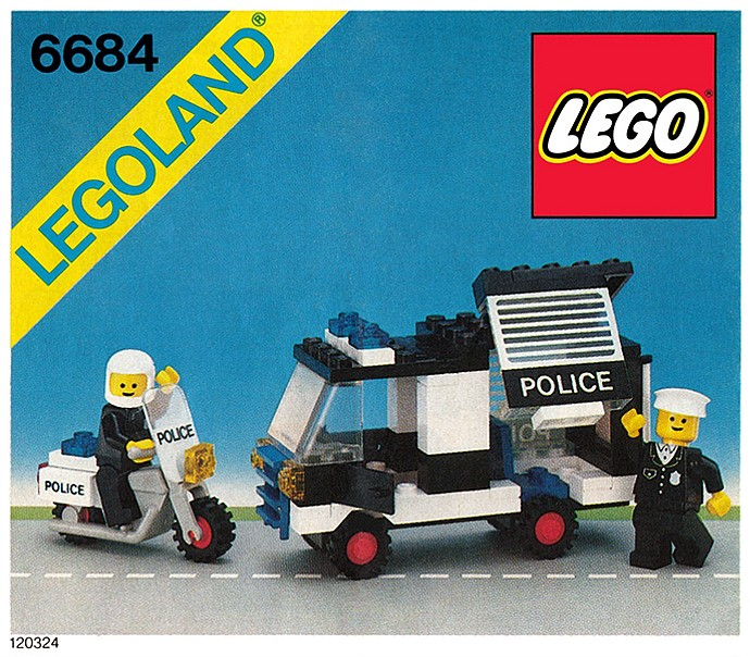 LEGO Town - Police - Police Patrol Squad [6684] from 1984