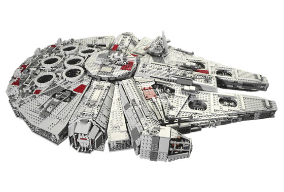 Side view of the LEGO Star Wars Ultimate Collector Series (10179) from 2007