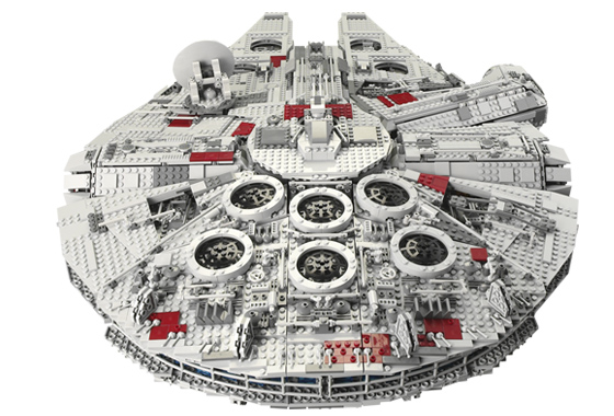 Back view of the LEGO Ultimate Collector Series Millennium Falcon (10179) from 2007