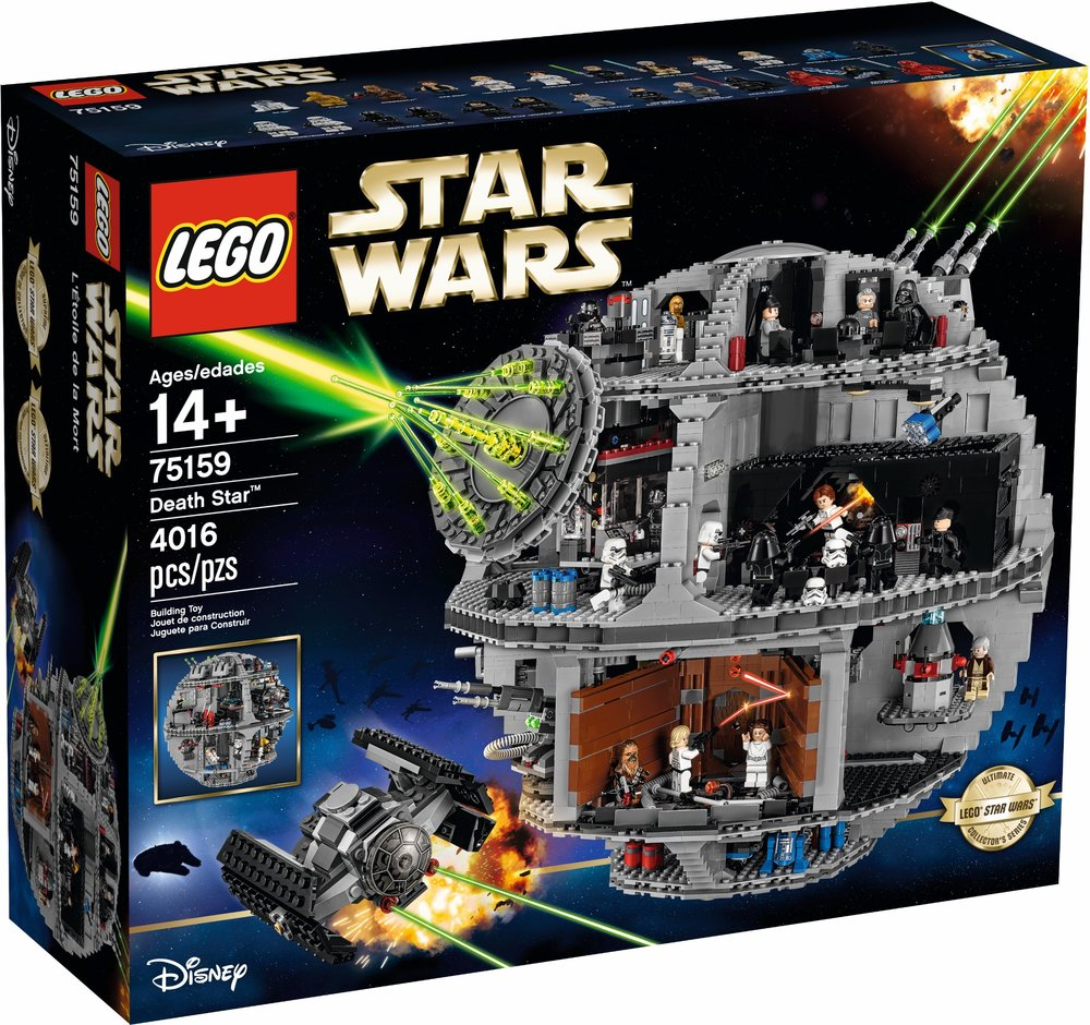 LEGO Star Wars Ultimate Collector Series Death Star box art (75159) released  in October 2016
