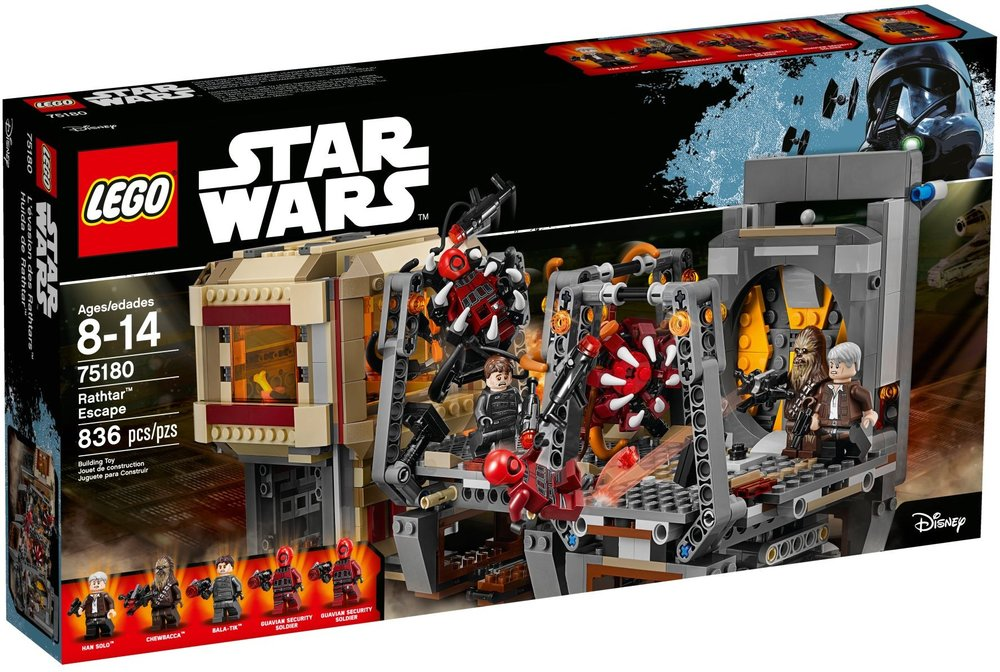 LEGO Star Wars Rathtar Escape Box Art (75180) released in June of 2016