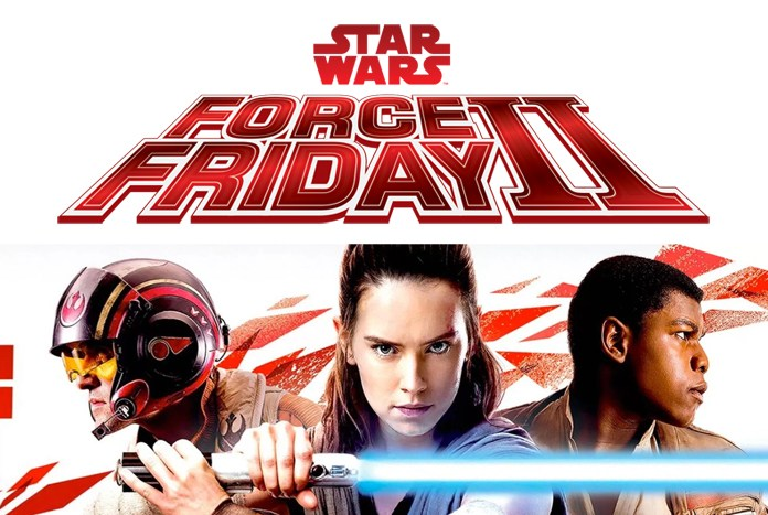Marketing image promoting Disney's Star Wars Force Friday II event for Friday, September 1, 2017