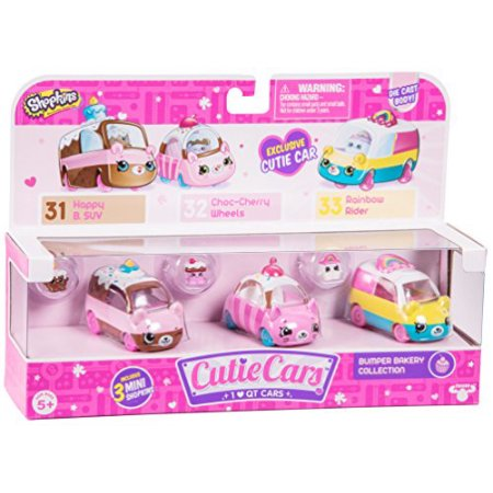 Shopkins Cutie Cars, 3 Pack, Bumper Bakery $12.99