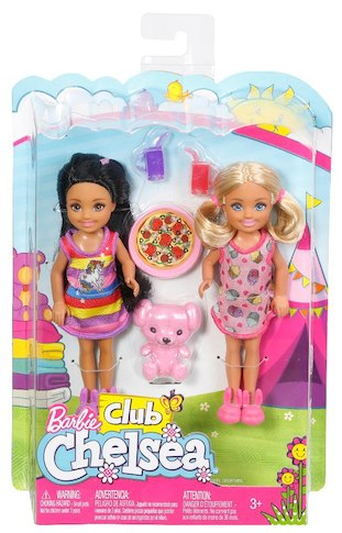 Barbie Club Chelsea Dolls Slumber Party Playset $14.99