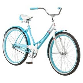 Schwinn Women's Legacy 26 Cruiser Bike, Blue/White, Blue Glacier $139.99