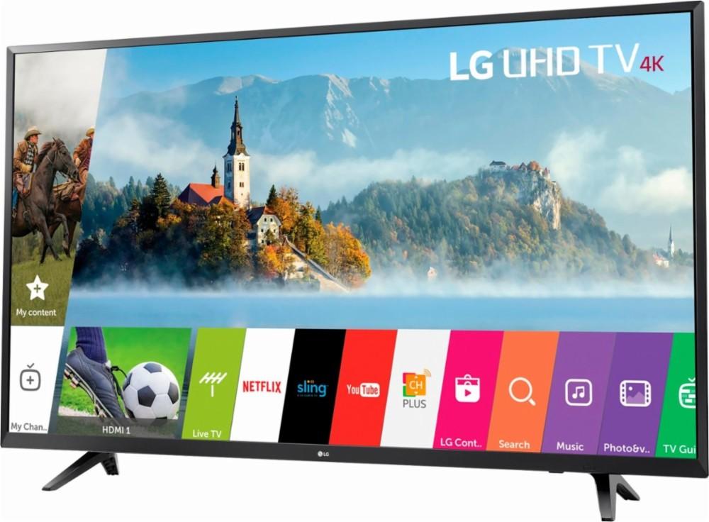 "LG - 43"" Class (42.5"" Diag.) - LED - 2160p - Smart - 4K Ultra HD TV $279.99"