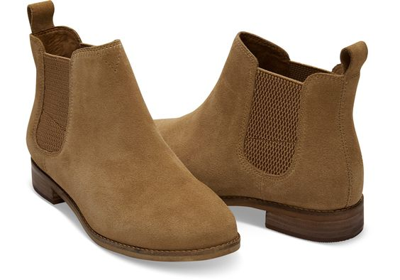 Toffee Suede Women's Ella Booties, Color: Toffee, Size: 9