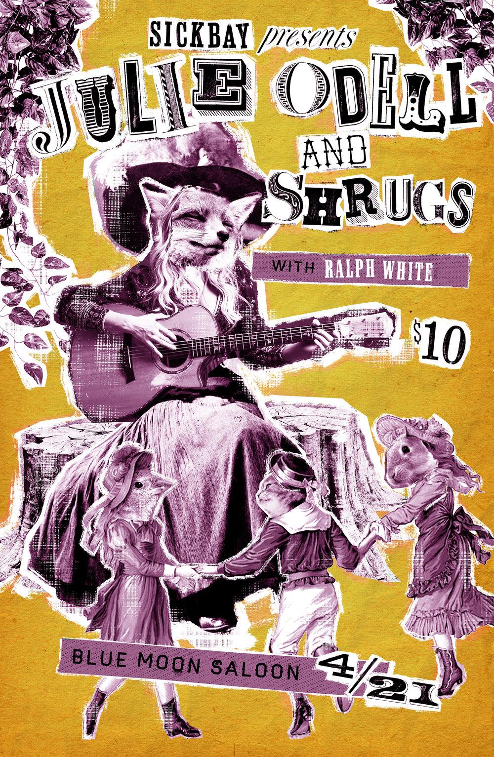 Julie Odell / Shrugs Gig Poster