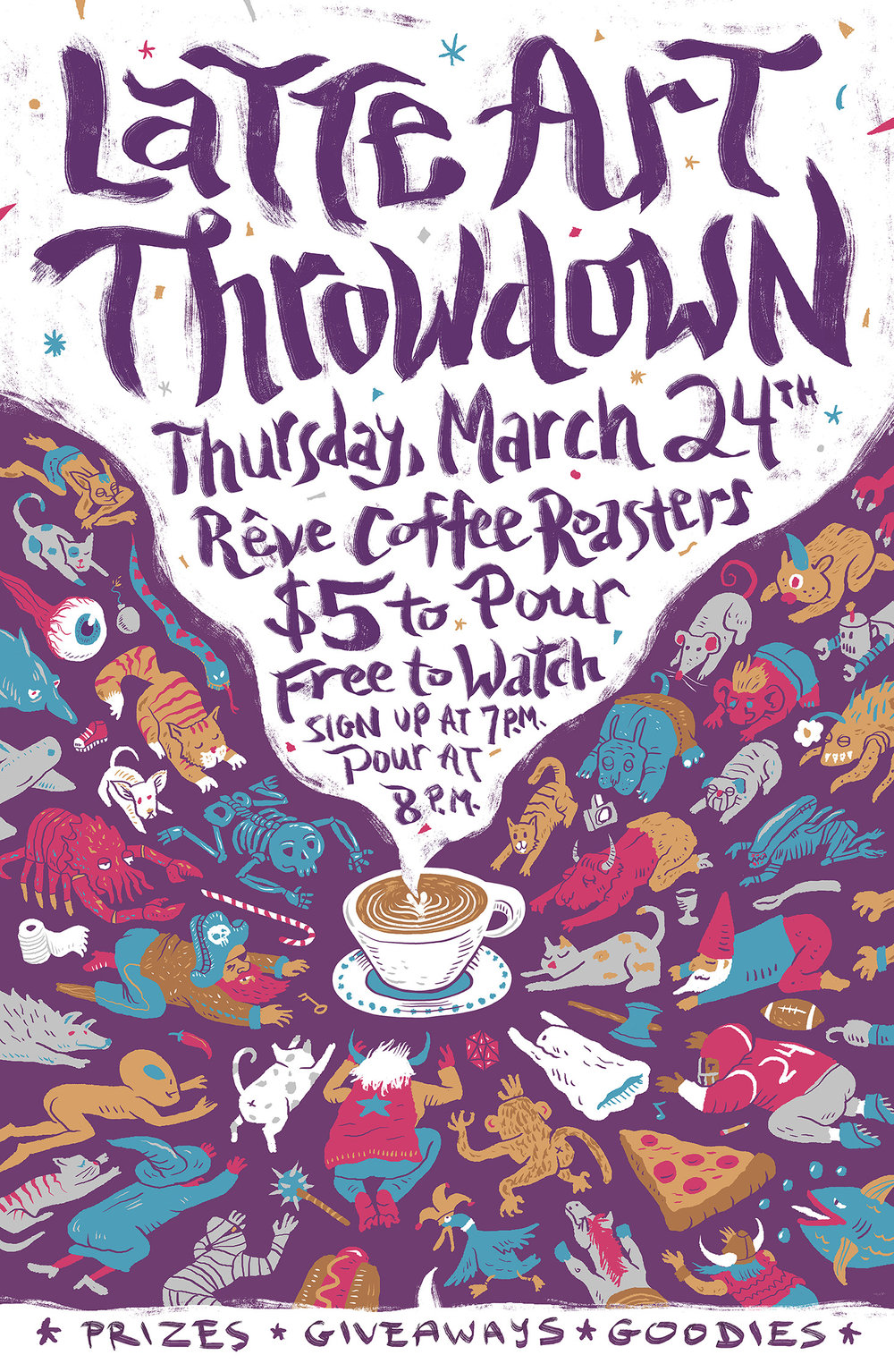 Latte Art Throwdown Poster