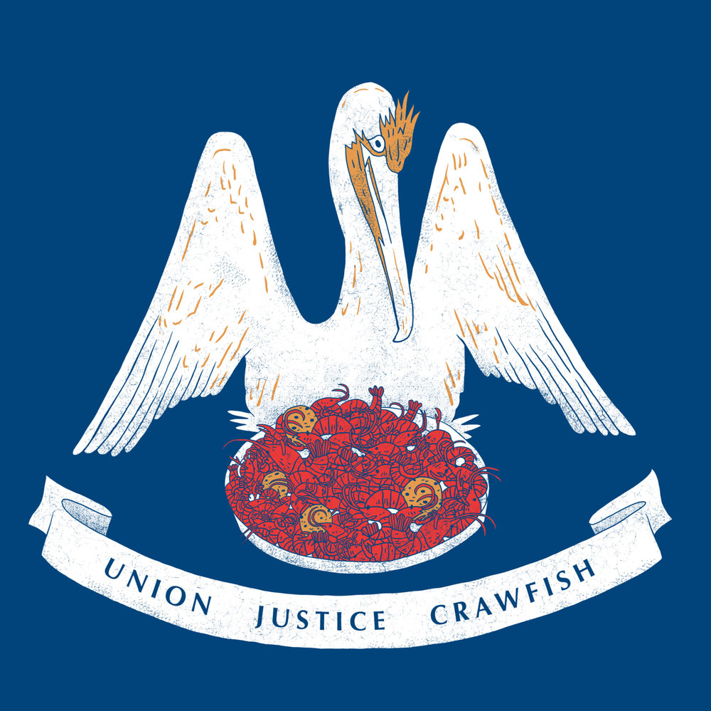 Union, Justice, Crawfish